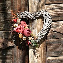 Dekorácie - Srdiečko na dvere - 13736149_