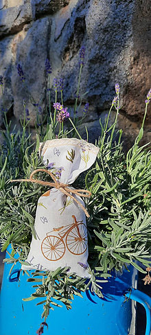 Úžitkový textil - Levanduľové vrecúško - 13734611_