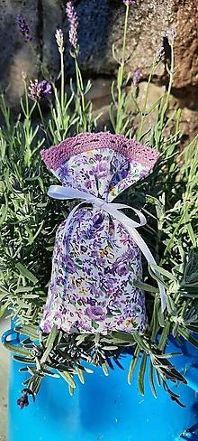 Úžitkový textil - Levanduľové vrecúško_ drobný kvietok - 13735022_