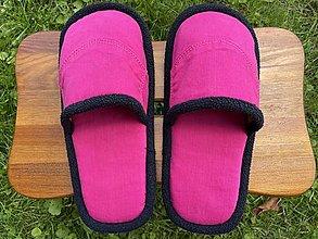 Obuv - Ružové papuče s vreckom - 13734916_