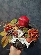 Dekorácie - svietnik jeseň - 13734492_