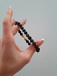 Šperky - Tigrie Oko a Chromdiopsid - 13735280_