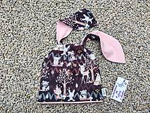 Detské čiapky - Čiapka s uškami - 13732767_