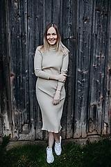 Šaty - Kremové merino šaty ROSIE - 13736305_