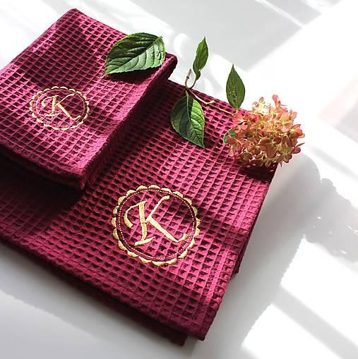 Darčekový set uterákov pre ♥DÁMU♥ (s monogramom)