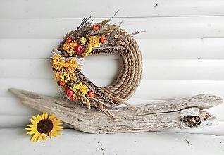 Dekorácie - Jesenný venček ,, Farebná symfónia,, - 13737488_