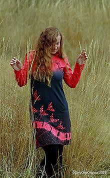 Šaty - Dámske šaty šité, batikované, maľované KALINA - 13737011_