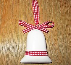 Polotovary - Vianočný zvonček - keramika - 13736349_