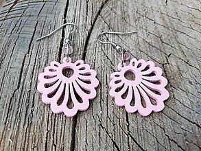 Náušnice - Náušničky vejárky svetlo ružové - 13736451_
