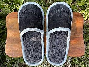 Ponožky, pančuchy, obuv - Šedoriflové papuče - 13738143_