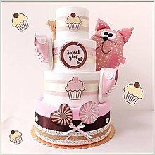 """Detské doplnky - Plienková torta """"SWEET KITTY (4-posch.)"""" - 13737703_"""