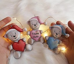Dekorácie - Medvedík, moje 1. Vianoce ❤️ - 13737386_