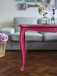 Nábytok - Konferenčný stolík v ružovej - 13737157_