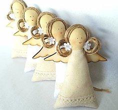 Dekorácie - Vianočné anjeliky - 13739402_