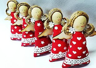 Dekorácie - Vianočné anjeliky - 13739416_