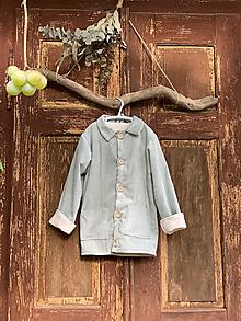 Detské oblečenie - Menčestrový detský kabátik Sivomodrý - 13739872_