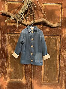 Detské oblečenie - Menčestrový detský kabátik Modrý - 13739888_