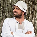 Čiapky - Ľanový klobúk - 13741358_