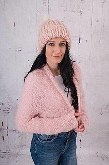 Čiapky - ružová chunky čiapka,100 % peruánska ovčia vlna - 13740351_