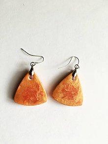 Náušnice - oranžové fimovky - 13740594_