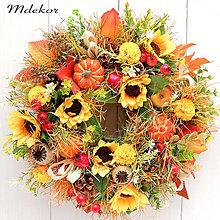 Dekorácie - Jesenný veniec strapatý - 13742579_