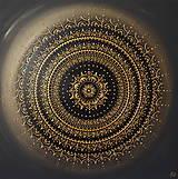 Mandala ÚSPECH A HOJNOSŤ (gold-black) 60 x 60
