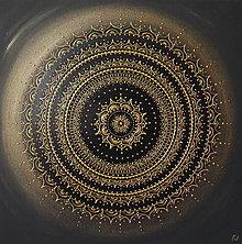 Obrazy - Mandala ÚSPECH A HOJNOSŤ (gold-black) 60 x 60 - 13742132_