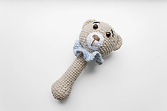 Hračky - Hrkálka medvedík - 13742042_