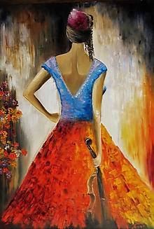 Obrazy - Španielka ...  70x100 cm - 13742610_
