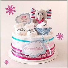 Detské doplnky - MINI tortička SLONÍK - 13740820_