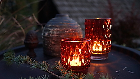 Svietidlá a sviečky - Dve sójové sviečky v skle - 13742018_