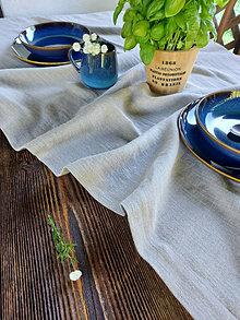 Úžitkový textil - Ľanový obrus Natural Style - 13741163_