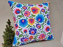 Úžitkový textil - Obliečky s folk kvetmi - 13747061_