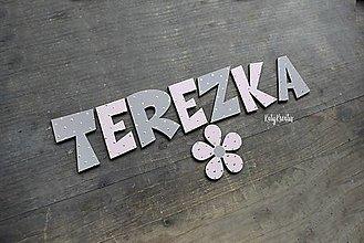 Detské doplnky - dievčenské písmenká  vzor Terezka - 13744125_