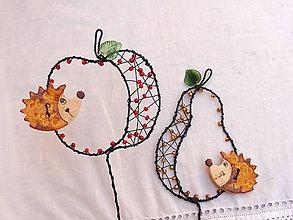 Dekorácie - jabĺčko s ježkom...zápich - 13746348_