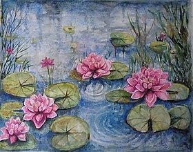 Obrazy - Lekná (akvarel) - 13743549_