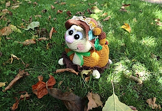 Dekorácie - Jesenná korytnačka - 13746451_