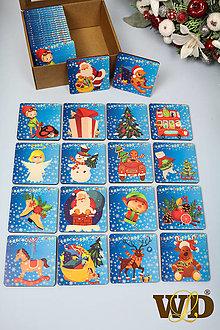 Detské doplnky - Vianočné drevené pexeso Veľké - 13745699_