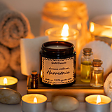 Sviečka zo sójového vosku v hnedom skle - Harmónia
