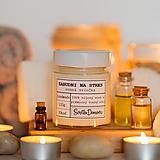 Svietidlá a sviečky - Sviečka zo 100% sójového vosku - Zabudni na stres - 13746483_