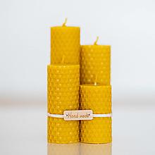 Svietidlá a sviečky - Sviečka zo 100% včelieho vosku - Točené tenké - Žlté - 13746531_