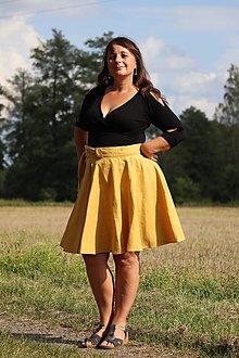 Sukne - Lněná zavinovací sukně - více barev - 13744907_