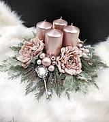 Dekorácie - Adventný glamour svietnik - 13747066_
