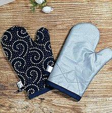 Úžitkový textil - Modrotlačové CHŇAPky 2 ks s magnetom a tepolovzdornou látkou 2 - 13746237_