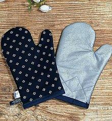 Úžitkový textil - Modrotlačové CHŇAPky 2 ks s magnetom a tepolovzdornou látkou 3 - 13746259_