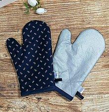 Úžitkový textil - Modrotlačové CHŇAPky 2 ks s magnetom a tepolovzdornou látkou 4 - 13746278_