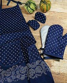 Iné oblečenie - Modrotlačový set do kuchyne 1 - 13746347_