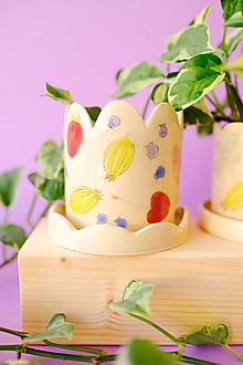 Nádoby - Kvetináč z kolekcie Každý deň (Rôznofarebné ovocie) - 13746737_