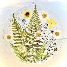 Obrázky - Živicový obrázok Kvety v papradi - 13745639_