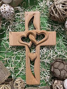 Dekorácie - Krížik ♥ SPOLU s LÁSKOU ♥ - 13744552_